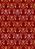 seamless för damastast garnering för bakgrund guld- Royaltyfri Foto