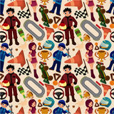 Seamless f1 pattern Royalty Free Stock Image