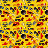 Seamless f1 pattern. Drawing Royalty Free Stock Photos