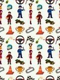 Seamless f1 pattern. Cartoon vector illustration Stock Photo