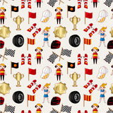 Seamless f1 racing pattern Stock Photo