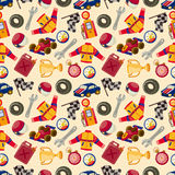 Seamless f1 racing pattern Royalty Free Stock Photo