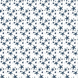 Seamless fabric. A Maritime theme. Blue. Ornament, background, texture, wrapping, Wallpaper , greeting, print. Starfish Royalty Free Stock Images
