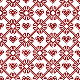 Seamless fabric.Merry Christmas and happy New year. The occasion. Pixels. White and red color Royalty Free Stock Images