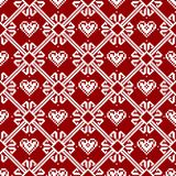Seamless fabric.Merry Christmas and happy New year. The occasion. Pixels. White and red color Royalty Free Stock Image