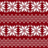 Seamless fabric. The occasion. Merry Christmas and happy New year. Pixels. Royalty Free Stock Photography