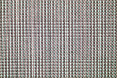 Seamless fabric pattern close up. Close up checked woven woolen rug fabric pattern texture background Royalty Free Stock Image