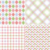 Seamless fabric patterns Stock Image