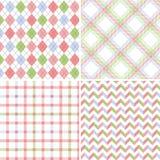 Seamless fabric patterns Stock Image