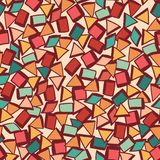 Seamless fabric texture with triangles,grange mosaic endless bac Stock Photos