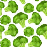 Vitamins and minerals of broccoli flower head. Infographics about nutrients in broccoli cabbage. Seamless fabric. Vitamins and minerals head of a flower of Stock Photography