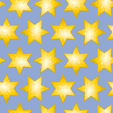 Seamless Faceted Star Background tile Stock Photo