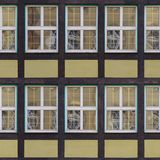 Seamless fachwerk wall with windows texture Stock Photo