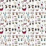 Seamless facial expressions Royalty Free Stock Images