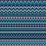 Seamless Fair Isle Knitted Pattern. Festive and Fashionable Swea. Seamless pattern ornament on the wool knitted texture. EPS available Stock Photography