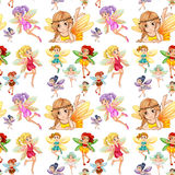 Seamless fairies Royalty Free Stock Images