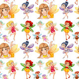 Seamless fairies in different positions Stock Photography
