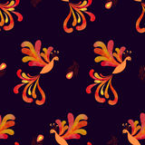 Seamless fairy Firebird Phoenix pattern. Royalty Free Stock Photos