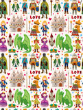 Seamless Fairy Tale Pattern Royalty Free Stock Images