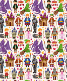 Seamless Fairy tale pattern Stock Image