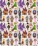 Seamless Fairy tale pattern Stock Image