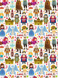 Seamless Fairy tale pattern Stock Photo