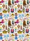 Seamless Fairy tale pattern Stock Photo