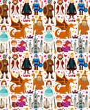 Seamless Fairy tale pattern Royalty Free Stock Photo