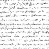 Seamless fake writing texture stock photography