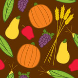 Seamless Fall Harvest Stock Photos
