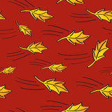 Seamless Fall Leaves Blowing Royalty Free Stock Photo