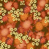 Seamless Fall Leaves Royalty Free Stock Photography