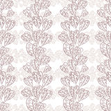 Seamless fall leaves pattern, floral wallpaper, hand drawn, vect Royalty Free Stock Images