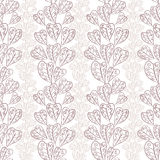Seamless fall leaves pattern, floral wallpaper, hand drawn, vect Stock Photos