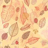 seamless fallande leaves för höstbakgrund Arkivbild