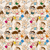 Seamless family pattern Royalty Free Stock Photography