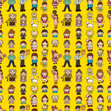 Seamless family pattern Royalty Free Stock Image