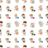 Seamless family pattern Royalty Free Stock Images