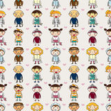 Seamless family pattern Stock Images