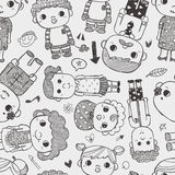 Seamless family pattern Stock Photo