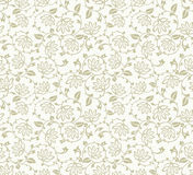 Seamless fancy floral background Stock Photo