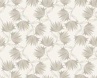 Seamless fancy floral wallpaper design Royalty Free Stock Images