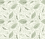 Seamless fancy leaves vector wallpaper Royalty Free Stock Images