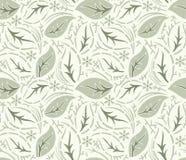 Seamless fancy leaves vector wallpaper vector illustration