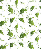 Seamless fancy leaves wallpaper Stock Photography