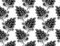 Seamless fancy leaves wallpaper Royalty Free Stock Photography