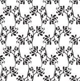 Seamless fancy lotus flower wallpaper royalty free illustration