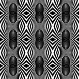 Seamless fancy pattern with zebra motif. Stock Images
