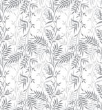 Seamless fancy silver leaves background vector illustration