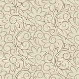 Seamless fancy vector floral wallpaper Royalty Free Stock Photo